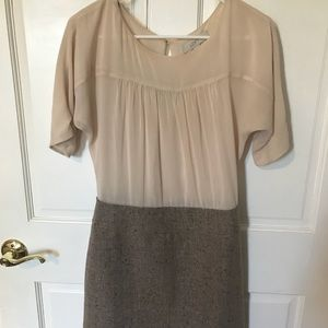 Ann Taylor Loft size 2 cream dress.